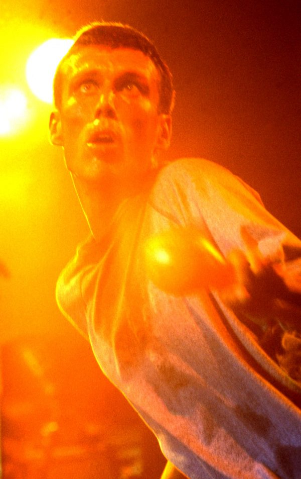 Bez with maracas colour - The Happy Mondays live at the Free Trade Hall Manchester