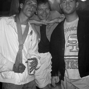 Bez Tony Wilson PaulDavis aka P.D. of The Happy Mondays
