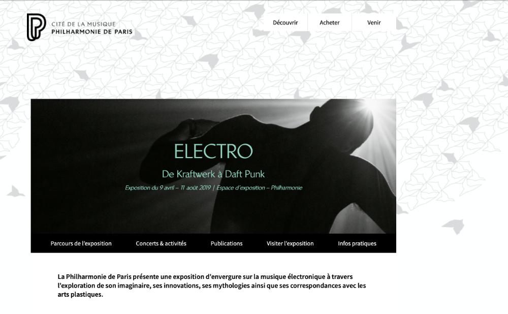 ELECTRO Philharmonie de Paris - Cité de la musique PETER J WALSH