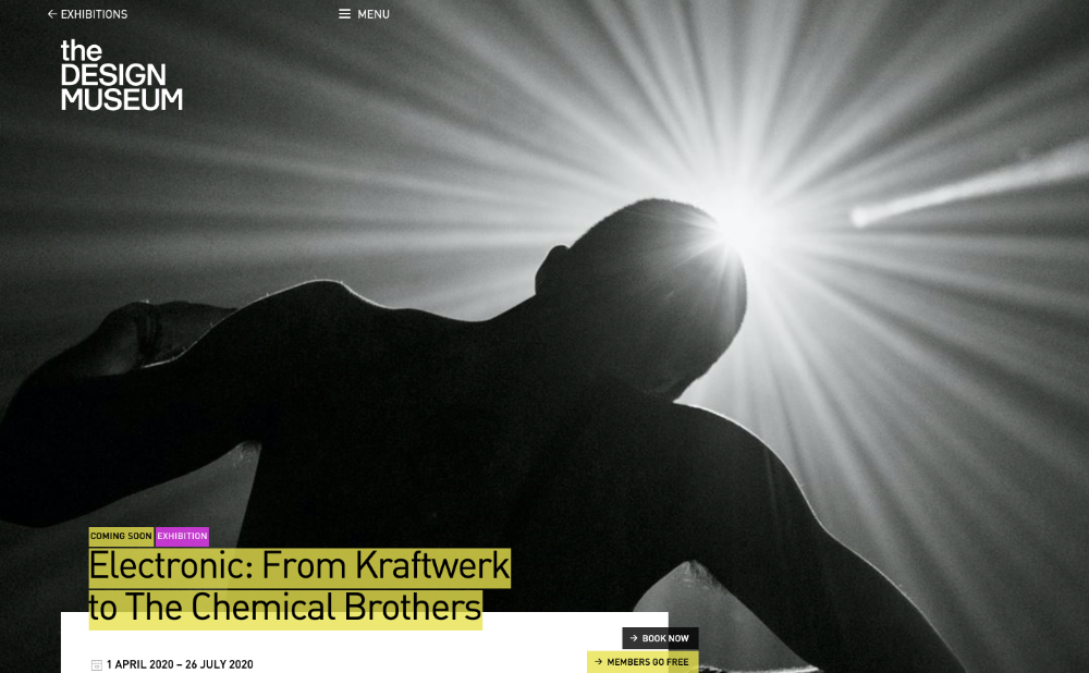 design museum london Electronic From Kraftwerk to The Chemical Brothers peterjwalsh